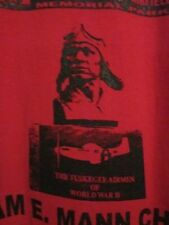 NWOT - TUSKEGEE AIRMEN WWII MONUMENT Red Adult L Short Sleeve Double-Sided Tee