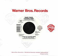 "RANDY TRAVIS GEORGE JONES CLINT EASTWOOD ""A FEW OLD COUNTRY BOYS"" WB19586 45rpm"