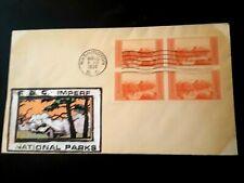 Fdc Blk of 4 Imp. Grand Canyon Nat .Park Sct# 757 Stamps.1935 Nat.Parks Cachet