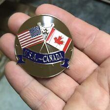 Canada US Flag State Hiking Staff Stick Medallion NEW 🇨🇦