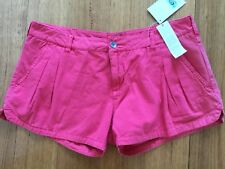 Rip Curl Ladies Red Cotton Shorts Size 30