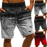 Herren Shorts Bermudas Sommer Fitness Kurzhosen Jogging Freizeit Sports Hosen
