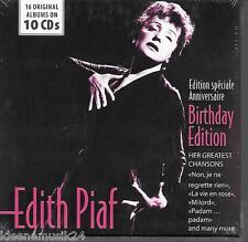 10 CD EDITH PIAF' 16 Original Albums-Chansons 'NOUVEAU/Neuf dans sa boîte la vie en rose, Milord