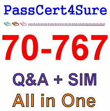 Best Exam Practice Material For 70-767 Exam Q&A+SIM