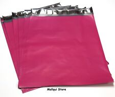 25 HOT PINK COLOR POLY MAILER BAGS 12 x 15.5 BOUTIQUE SHIPPING ENVELOPE MAILING