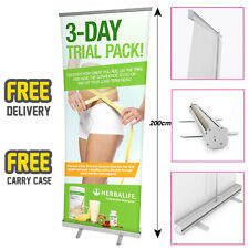 HERBALIFE Printed Roller Banner/Pop/Pull up Exhibition Stand - 3 DAY TRIAL