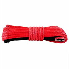 10mm X 30m Dyneema SK75 Synthetic Winch Rope Offroad Recovery Cable 4x4 Red