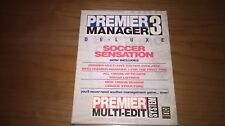 Premier Manager 3 & Multi Edit System Deluxe RARE PC BIG BOX