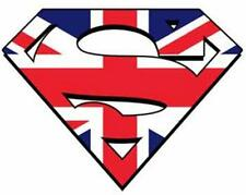 HOME NATIONS A5 SUPERMAN LOGO IRON ON TRANSFERS ENG WALES SCOTS IRELAND 8X6 LOGO