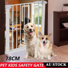 78cm High Adjustable Baby Pet Child Safety Security Gate Door Stair Barrier