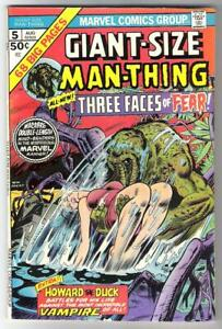 1975 MARVEL COMICS GIANT-SIZE MAN-THING #5 68-PAGES FRANK BRUNNER JOHN BUSCEMA