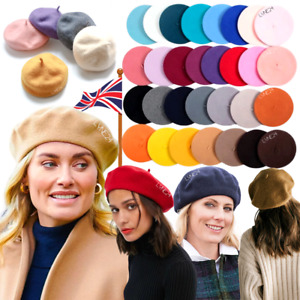 Classic NEW Ladies Chic French Artist Style Beret Beanie Autumn 100% Wool Hat