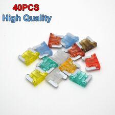 40PCS/Lot Mini Size Type Auto Car Blade Fuses 5 7.5 10 15 20 25 30 40 AMP