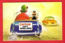 Comic Postcard ~ Caution Left Hand Drive - Domineering Wife in Car: Bamforth 612