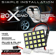 T10 Festoon Cool White 20-SMD LED Panel Dome Map Lamp Car RV Interior Light Bulb