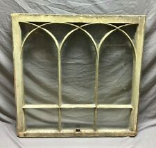 Antique Double Arch Gothic Window Sash Shabby Vintage Chic 229-19C