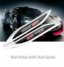 2x Car Side Wing Fender Metal Sticker Emblem Knife Style Badge For Honda Mugen