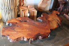 "90"" L Coffee table burl slab wood free form hand made unique spectacular details"