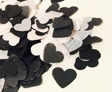 BLACK & WHITE HEART wedding confetti-Partito Tabella Decorazioni-Biodegradabile