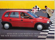 1996-97 HOLDEN SB BARINA GRAND PRIX 2p Brochure Like OPEL CORSA B