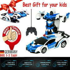 1:18 Transformer Auto Rennauto Roboter mit Fernbedienung Kinder Spielzeug NEU