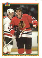 1990-91 Bowman Chicago Blackhawks Hockey Card #1 Jeremy Roenick RC