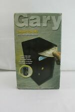 """Fire King GARY Compact Black Trim Safe 6"""" x 7"""" x 12"""" - For Cash Business MS1206"""