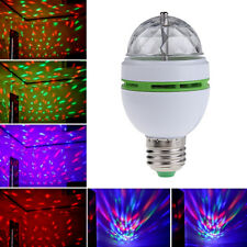 3W E27 RGB Crystal Ball Auto Rotating LED Stage Light Bulb DJ Disco Party Lamp
