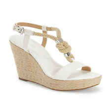 Michael Kors Shoes MK 40S6HOHA2L Holly Leather Wedge Optic White Agsbeagle COD