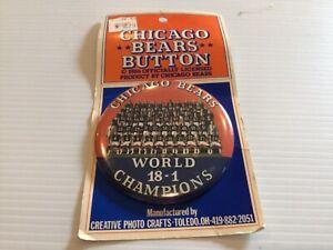 "NOS Chicago Bears 1986 Super Bowl XX World Champs 18-1 Burton w Team Photo 3.5"""