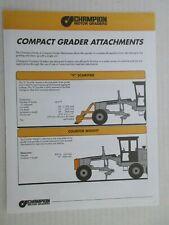 Champion Compact Grader Attachments Color Literature