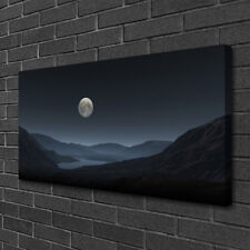 Canvas print Wall art on 100x50 Image Picture Night Moon Landscape