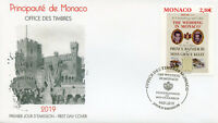 Monaco 2019 FDC Grace Kelly Wedding Prince Rainer III 1v Cover Royalty Stamps