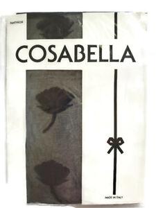 Cosabella Women's Black Art 915 Small Rose Print Pantyhose