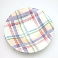 Portmeirion Amabel Tartan Soup  Bowl Pink Plaid