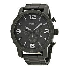 Fossil Nate Chronograph Black Dial Black Ion-plated Mens Watch JR1401-AU