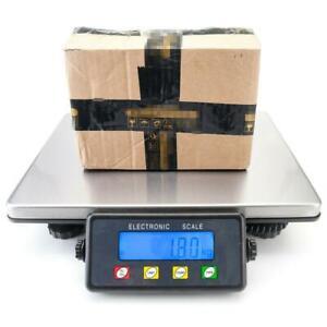200kg/50g Digital Postal Parcel Scales Weighing Stainless Steel Platform UK