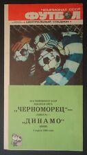 Programm Russland 1.4.1990 Tschernomorez Odessa - Dynamo Kiew Kiev
