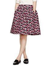 NWT Kate Spade Magnolia Petit Four Cupcake Full Skirt Black Pink $298 Sz 2 Xs