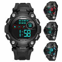 New Childern Waterproof Sports Digital Led Watch Kids Date Alarm Wrist Watch US