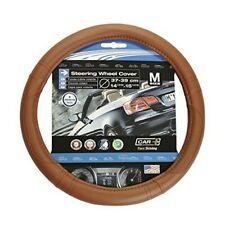 Sumex 2505112 aero Inner Rubber Pure New Wool, Brown, Steering Wheel Cover -