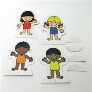 My Colorforms World Game Replacement Parts Pieces - 4 Stand Up Characters