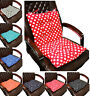 Polka Dot Dotty Cotton Chunky Dining Garden Back Support Chair Cushion Seat Pads