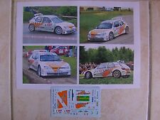 PEUGEOT 306 MAXI RALLYE ALSACE VOSGES 2008 ERIC MAUFFREY DECALS 1/43