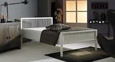 Boston Double 4ft 6inch Metal Frame Bed In Ivory White ** FRAME ONLY **