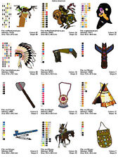 48 NATIVE AMERICAN 4X4 MEGA EMBROIDERY DESIGNS ON CD