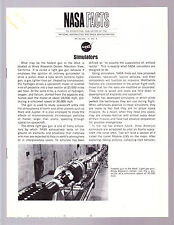 NASA American in Space 1967 FACT SHEET NF-36 SIMULATORS Spacecraft Training