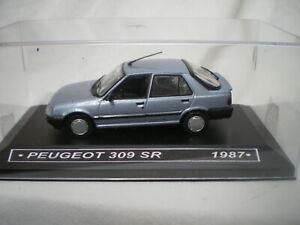 1/43 Peugeot 309 5 portes SR 1987 Bleu clair Métal Norev Neuf Boite plastique