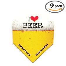 9 Pack Harrows Marathon I Love Heart Beer & Darts 100 Micron Dart Flights