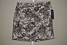 Women's Jones New York Root Beer Palm Leaves Shorts, MSRP $59, 12, 14, 16
